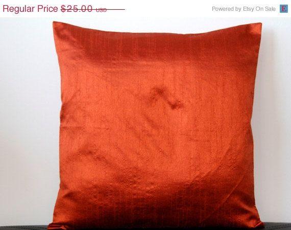 Rust Pillow Solid Pillow Rust Throw Pillow Rust Cushion