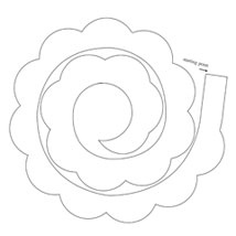 Paper roses, Roses and Templates on Pinterest