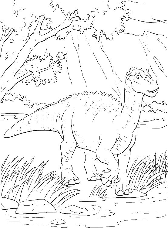 Aladar Gets A Large River Crossing Coloring Pages
