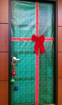 Door wrapped like a christmas present | Holidays ...