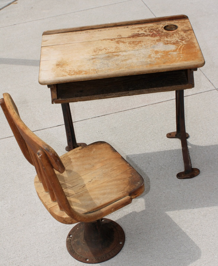 Antique Childrens desk and chair Kenney Bros and Wilkins