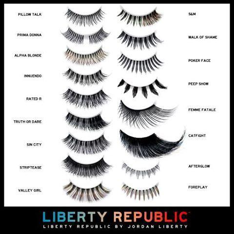 #libertyrepublic luxury eyelashes in tons of styles