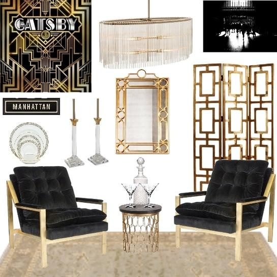 The Great Gatsby Meredith Cook  design boards  Pinterest  Art deco interiors The great and