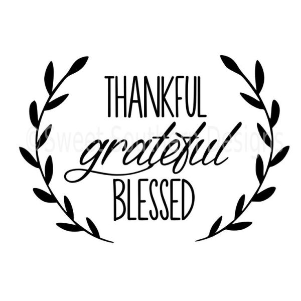 thankful grateful blessed laurel