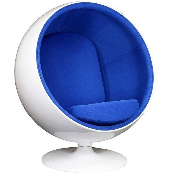 120000  LexMod Eero Aarnio Style Ball Chair in Blue