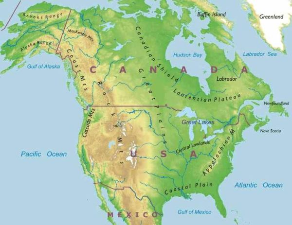 north american mountain ranges Google Search School