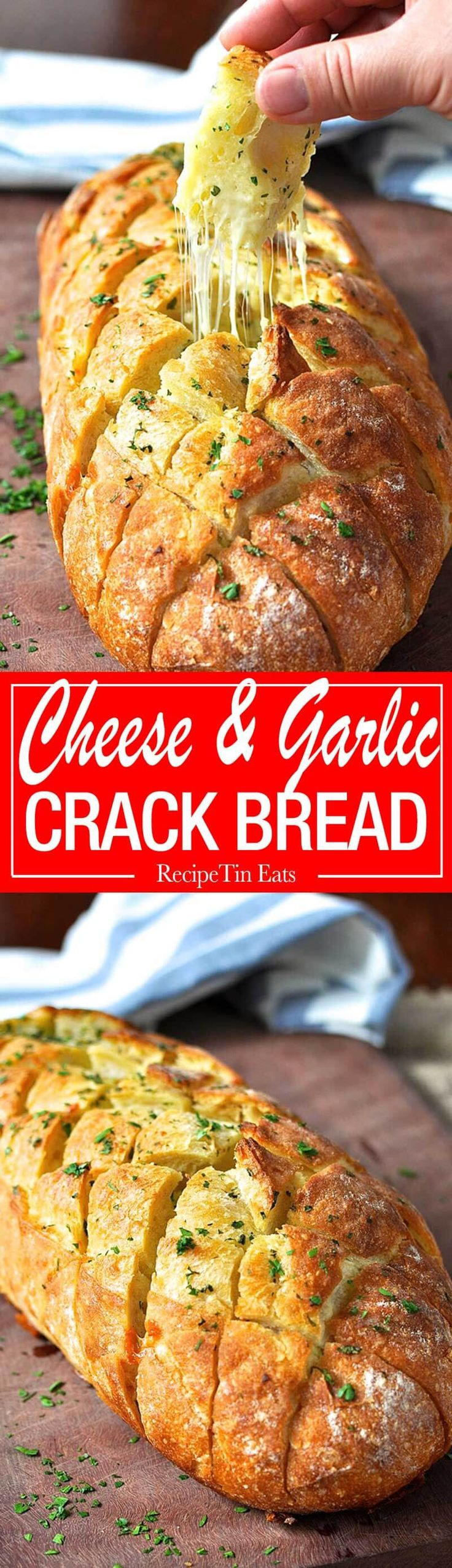 Cheese and garlic crack bread – this cheesy garlic bread is outta this world…