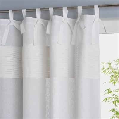 Linen Tab Top Curtain 5 Colours GreyPurplelilacBrown