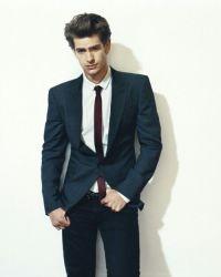 Andrew garfield: skinny tie, blue blazer, hair | Adorable ...