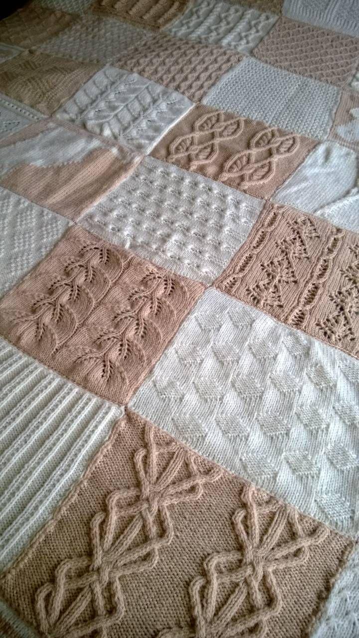 Diy gebreide deken  Breien  Pinterest  Doehetzelf