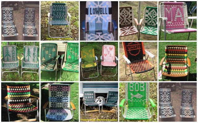 aluminum webbed lawn chairs revolving chair olx 17 best images about garden folding on pinterest | rocking chairs, macrame cord and