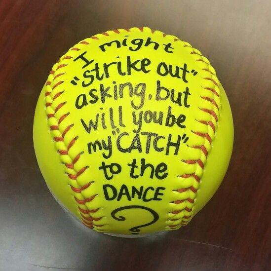 Softball Dance #promposal Idea DIY! Pinterest