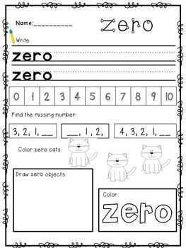 This Packet Focuses On Number Words Zero Through Ten