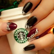 red and black 3d nails nail ideas