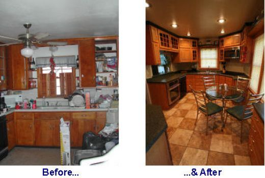 Mobile Home Renovations Kitchen Remodeling Before And After