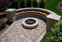 Semi circle | Stone seating and fire pits | Pinterest ...