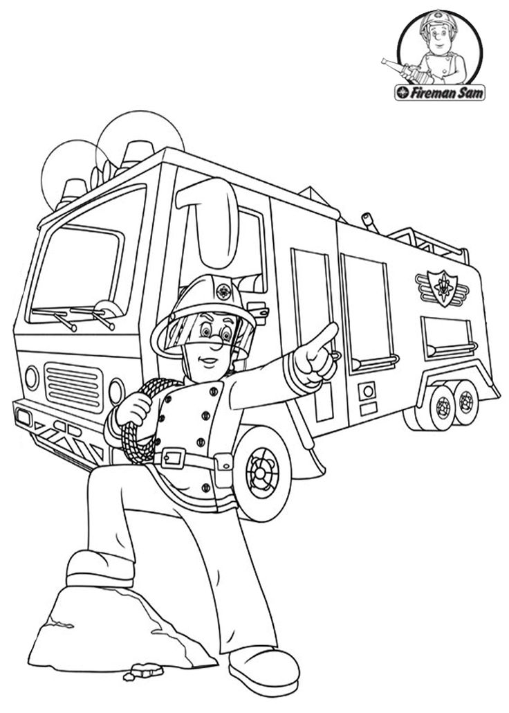 1000+ images about Fireman Sam Coloring Pages on Pinterest