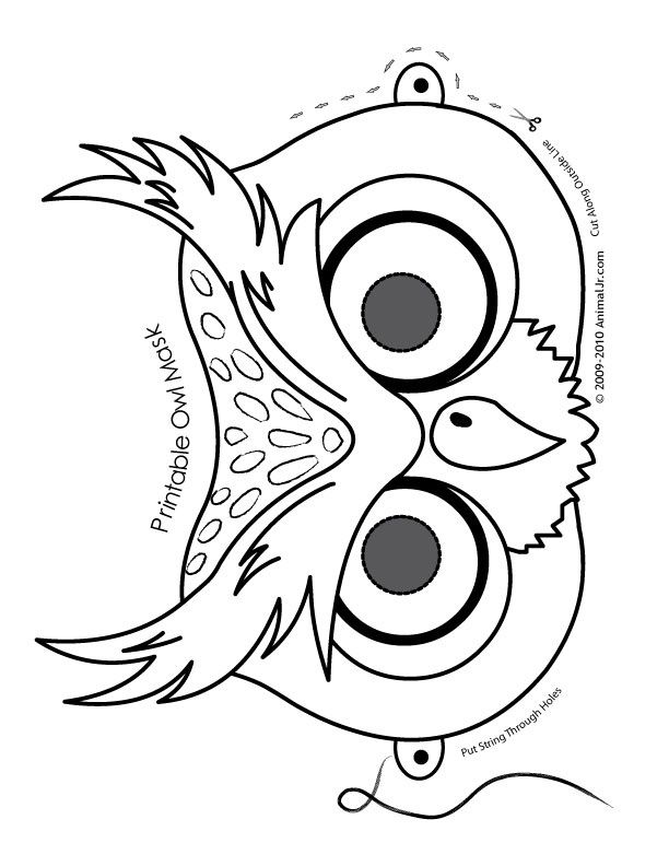 owl cute printable halloween animal paper masks mask