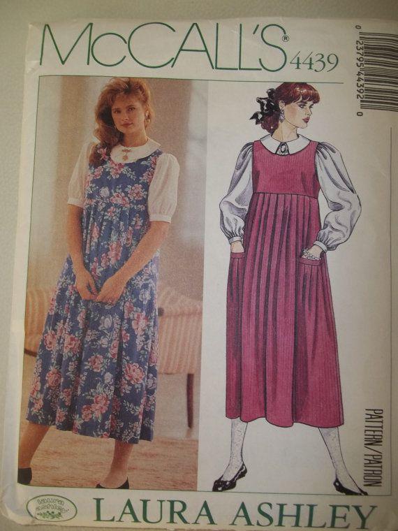 Vintage Laura Ashley Pattern McCalls 4439 Uncut Size 8 Jumper  Blouse Pattern  Jumpers