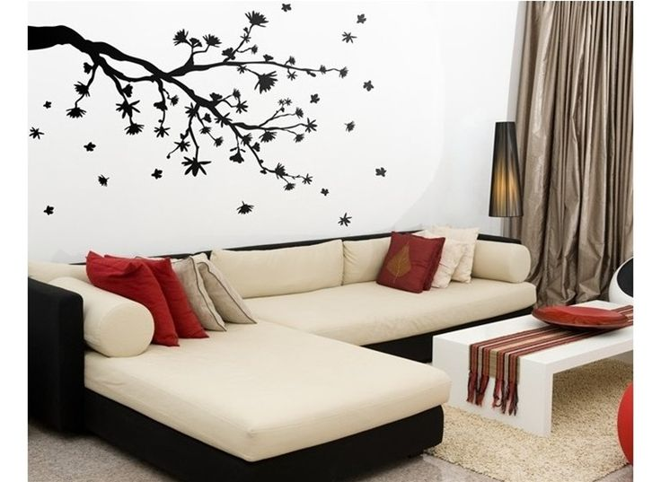 Falling Leaves Wall Decals Modern Interior Design Counter