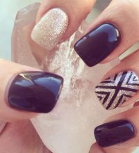 Best 20+ Gold gel nails ideas on Pinterest   Simple gel ...