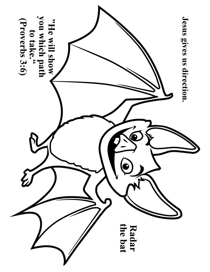Cave Quest Day 3 preschool coloring page Radar the Bat