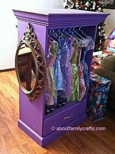 Diy dresser turned princess wardrobe  Children Stuff  Pinterest  Cute princess Top drawer