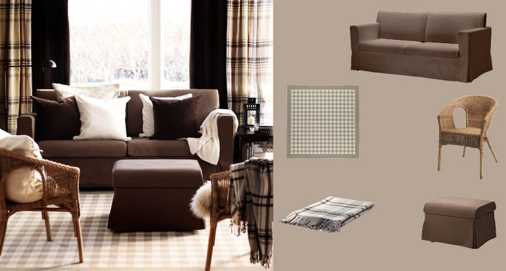 Get country cozy SANDBY sofa and footstool AGEN rattan