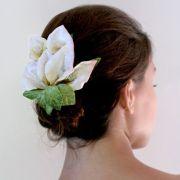 calla lily hair clip wedding