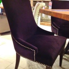 Studded Dining Room Chairs Savannah's Chair Cover Rentals & Events Honolulu Hi Beautiful Royal Purple Chair. | Houston, Tx Gallery Furniture Must Have ...