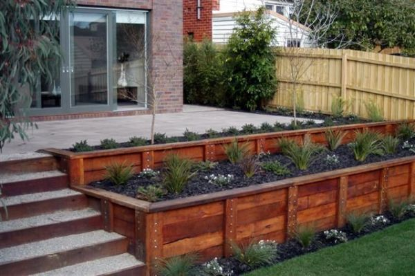 landscape timber planter plans