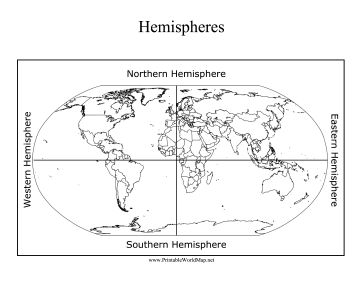 The Northern, Eastern, Southern, and Western hemispheres