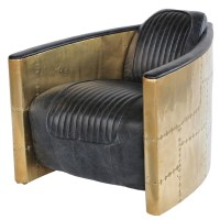 Aviator Tomcat Chair- Vintage Glove Leather & Brass. Would ...