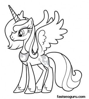 Printable My Little Pony Friendship Is Magic Princess Luna