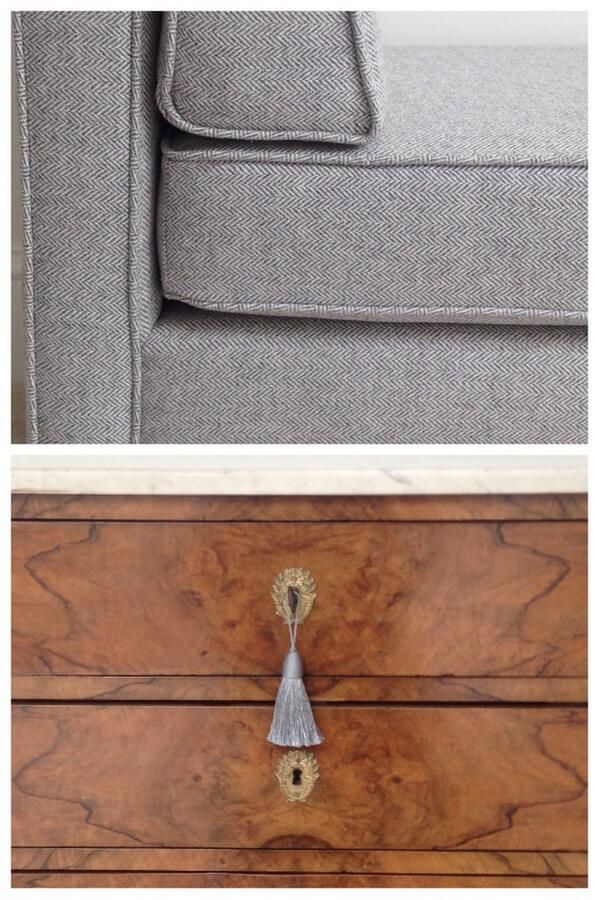 how to recover dining room chairs with piping wooden high chair pads herringbone fabric/piping detail - sophie paterson interiors | textiles and upholstery ...
