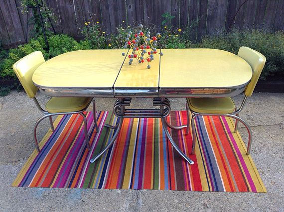 1950 s yellow formica table and chairs hanging chair transparent 25+ best ideas about on pinterest | vintage kitchen tables, dinette sets ...