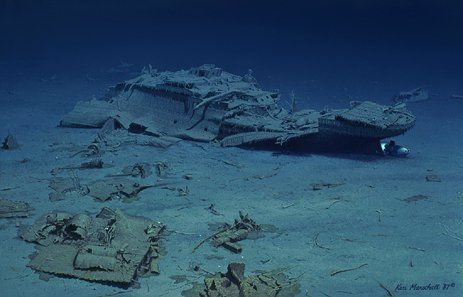 Titanic Stern Section Titanic Wreck Pinterest