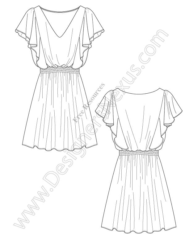 105 best Free Fashion Flat Sketches images on Pinterest