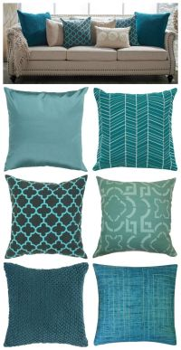 17 Best ideas about Teal Cushions on Pinterest | Teal sofa ...