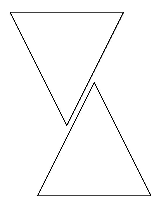 6 inch triangle pattern. Use the printable outline for