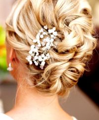 Bride's loose bun wedding hairstyle | Wedding Hair ...