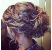 braided updo homecoming prom