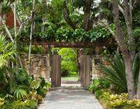 entrance gate with arbor - Banyan Ridge | tropical modern ...