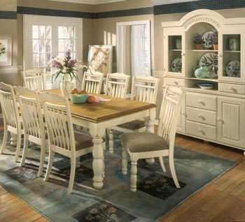 discount living room furniture sets paint colors with black ashley cottage retreat dining set   my space makeover ...
