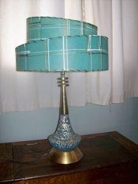 Fantastic vintage mid century modern table lamp 2 tier ...