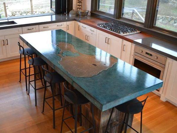 concrete kitchen countertops island 1000+ images about Concrete Countertops (Kitchen), Islands, and Bar on Pinterest | Decorative