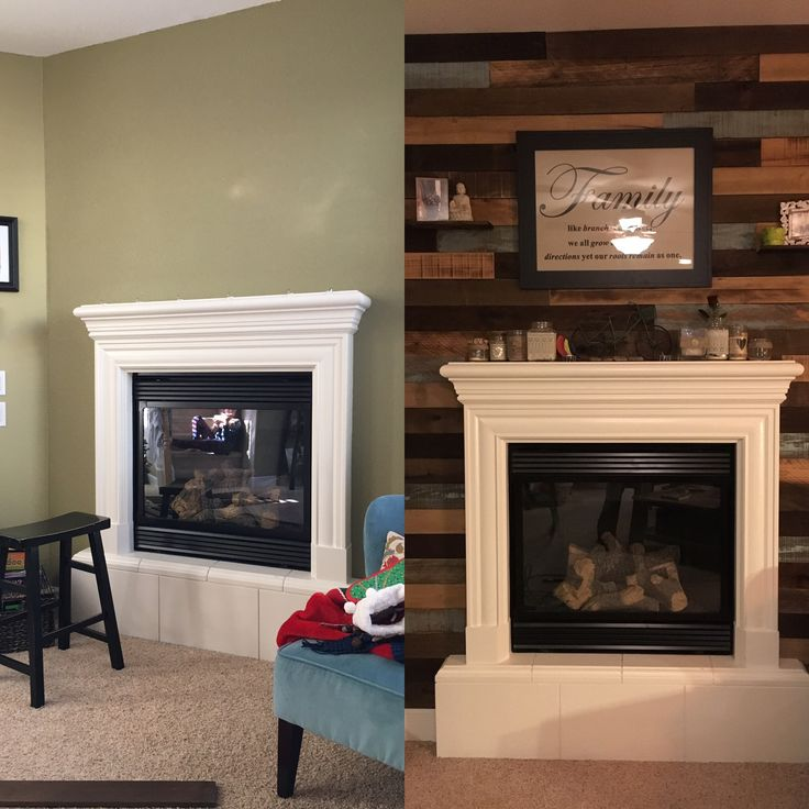 17 Best ideas about Reclaimed Wood Fireplace on Pinterest