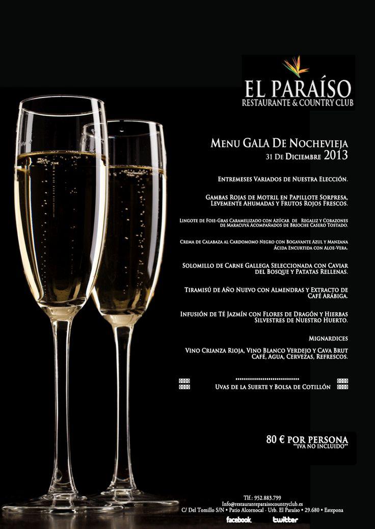 Menú Cena De Gala Fin De Año 2013 NocheVieja En El