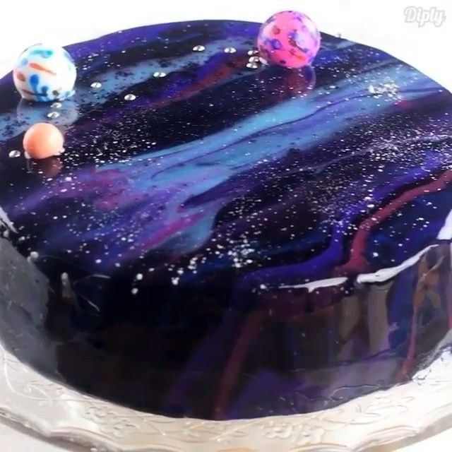 Now you get to learn how to make it Mirror Glaze Galaxy Cake Credits diplydelicious  Heaven