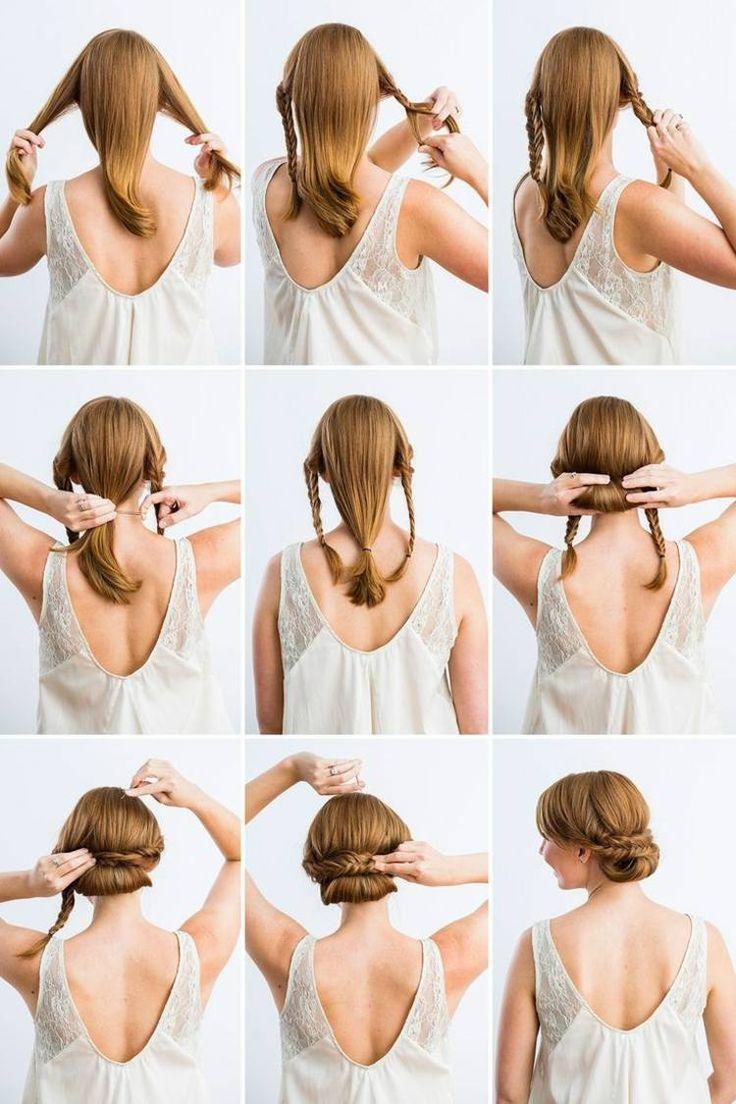 Die Besten 20 Haare Hochstecken Ideen Auf Pinterest
